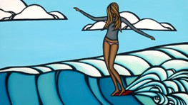 Heather Brown Lady Slide - Surf Art