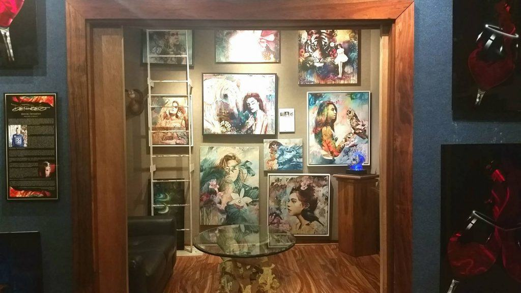 Fine art display at Wyland Gallery Haleiwa