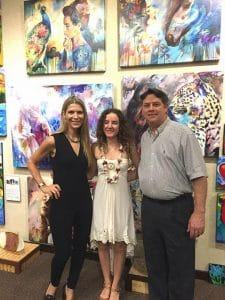 BSP Owner Larry McCarthy and Dimitra with Genesis Gallery owner Vera Kirkpatrick