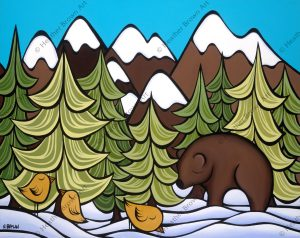 Mountain Bear by Heather Brown