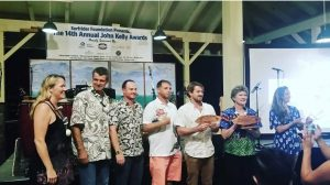 The winners of the Hawaiian Business Award, and Lifetime Achievement Award