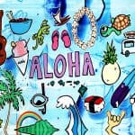 Welzie Art - Aloha Collage - Tropical Hawaii Inspired Painting