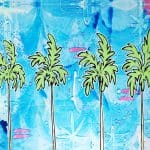 Welzie Art - Four Palms - Tropical Hawaii Inspired Painting