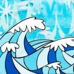 Welzie Art - Sea Waves - Tropical Hawaii Inspired Painting